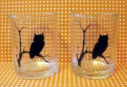 owl tea light holders