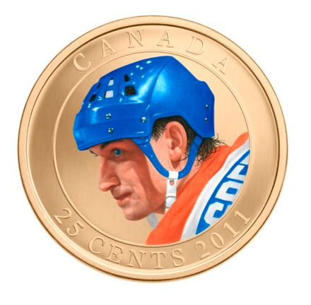 2011 25-Cent Coloured Coin Wayne Gretzky