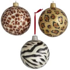 Leopard Print Christmas Balls