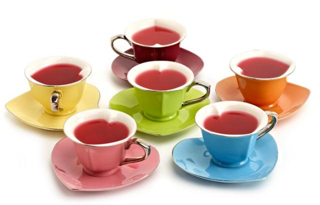 Indigo Heart Teacups