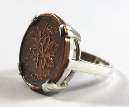 COIN COIN DESIGNS RING Canadian Gift Guide
