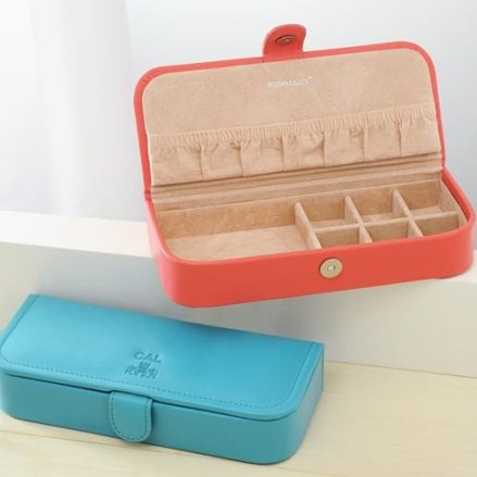 Monogrammed Leather Jewelry Box