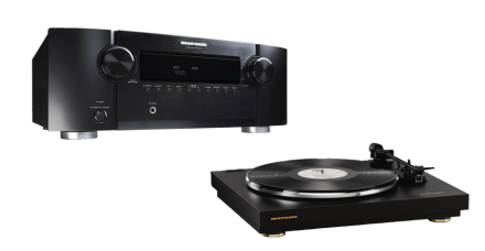 Marantz Receiver and Turntable