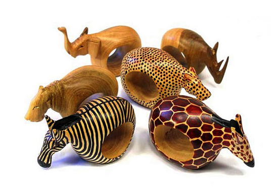 Animal Napkin Rings Mahogany Fair Trade