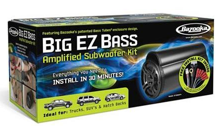 Bazooka Big EZ Bass Amplified Subwoofer Kit