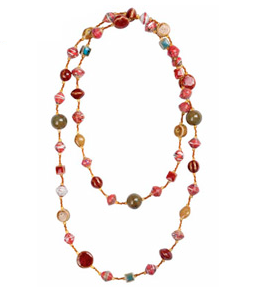 Haitian Hand-Beaded Necklace