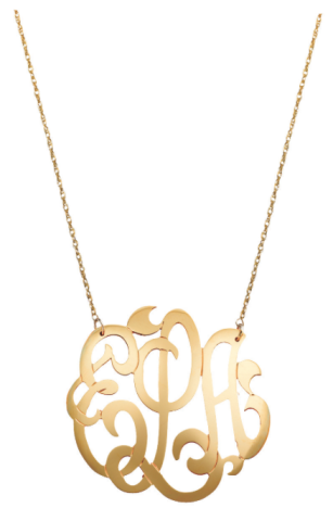 Jane Basch Freeform Script Necklace