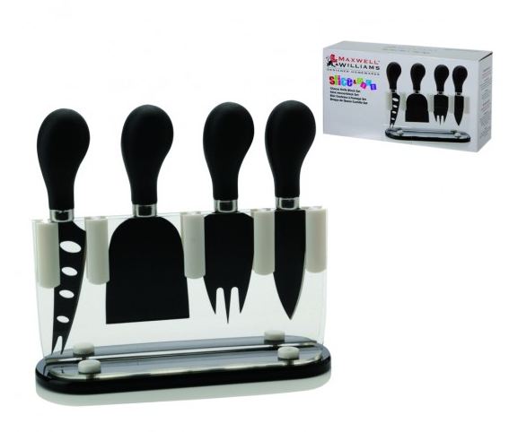 Maxwell & Williams Slice and Dice Cheese Knife Block Set