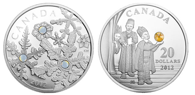 Royal Canadian Mint Holiday Coins 2012