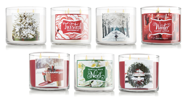 Slatkin & Co 3-Wick Candles