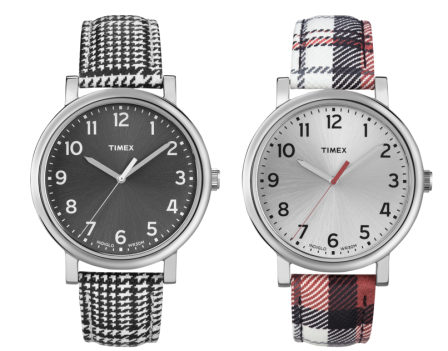 Timex Houndstooth and Plaid Watches