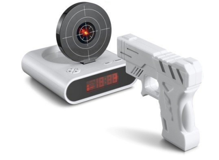 Gun Digital Alarm Clock