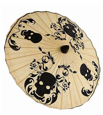 Damask Skull Parasol Umbrella
