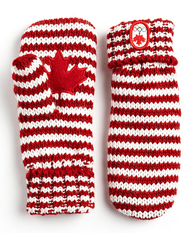 Olympic Collection Striped Mittens