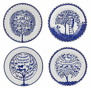 WILD & WOLF Rob Ryan Four Seasons Plates