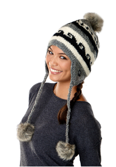 YAK Apparel Fleece Lined Natural Hat