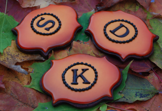 Fancy Plaque Monogram Cookies