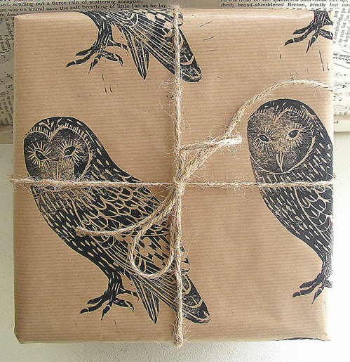 Hand Printed Gift Wrap