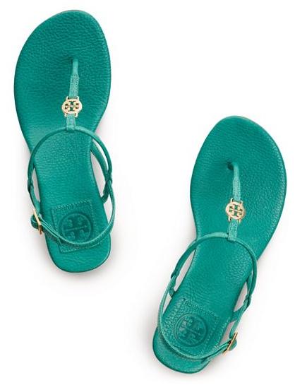 Tory Burch Emerald Sandals