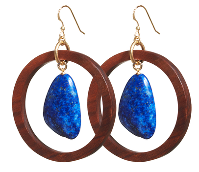 Liel and Lentz Earrings With Large Stone