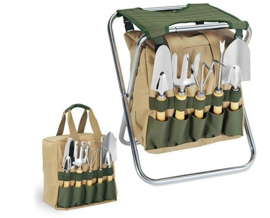 Gardener Seat and Tool Valet