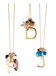 David Aubrey Alphabet Cluster Necklace