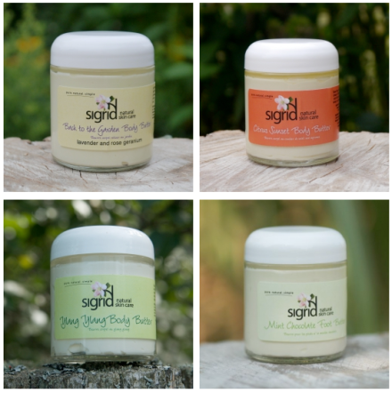 Sigrid Natural Skin Care Body Butters