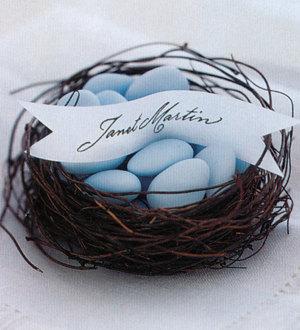 Birds Nest Wedding Favors