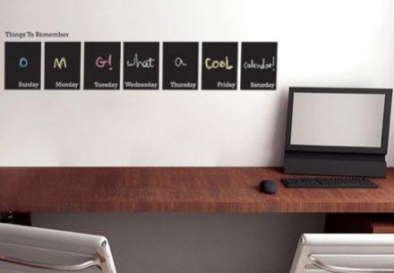 Chalkboard Weekl Calendar Decal