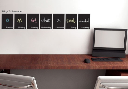 Chalkboard Weekl Calendar Decal