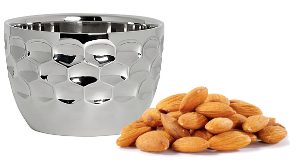 MONIQUE LHUILLIER Waterford Atelier Metal Nut Bowl