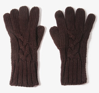 Brown Cable Knit Gloves Forever 21