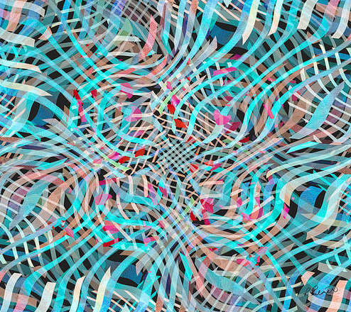 Ruther Palmer Blue and Pink Movement