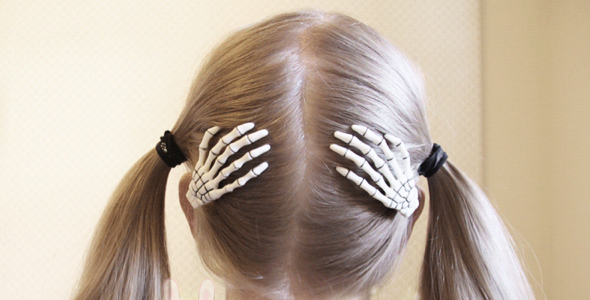 Storenvy Skeleton Hair Clips