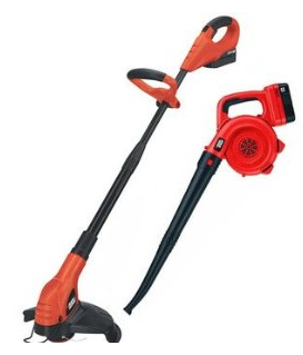 Black & Decker NCC218 18-Volt Cordless Trimmer and Sweeper Outdoor Combo Kit