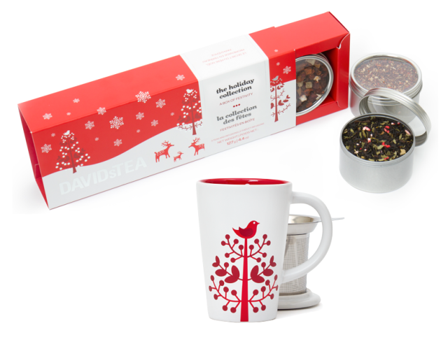 DAVIDsTEA Holiday Collection and Perfect Tea Mug