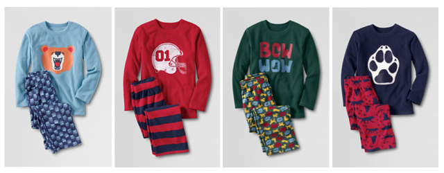 Lands' End Boys Flannel PJ Sets