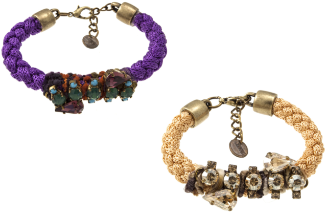 Elle Hardware Braided Bracelets