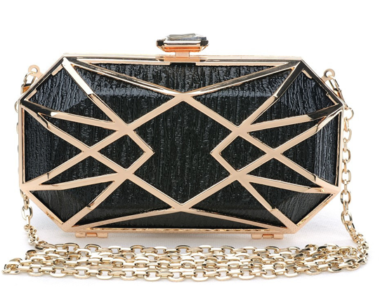 Elle Hardware Opulence Box Clutch