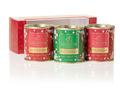 Godiva Mini Hot Chocolate Trio