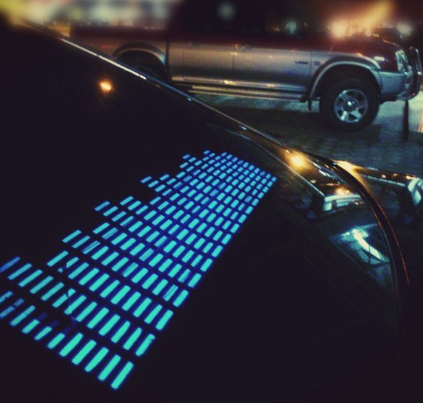 Music Actived LED Equalizer Car Sticker
