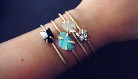 Pyrite gold adjustable bracelet