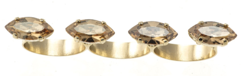 Triple Finger Crystal Ring