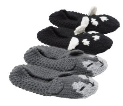 Animal Cable Knit Slipper Sock