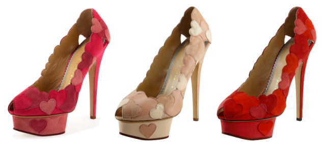 Charlotte Olympia Heart Applique Pumps