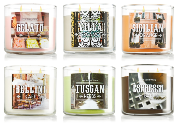 Italian Candles Bath and Body Works