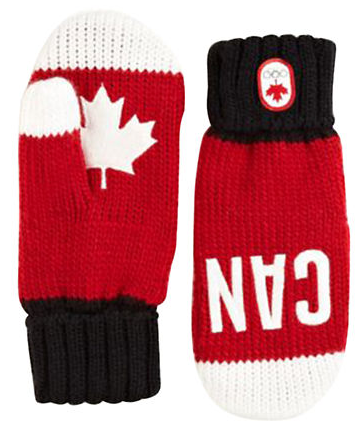 OLYMPIC COLLECTION 2014 Snow Top Red Mittens