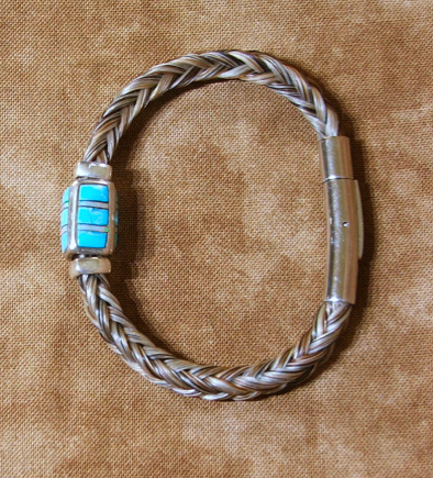 Square Braided Horsehair Bracelet