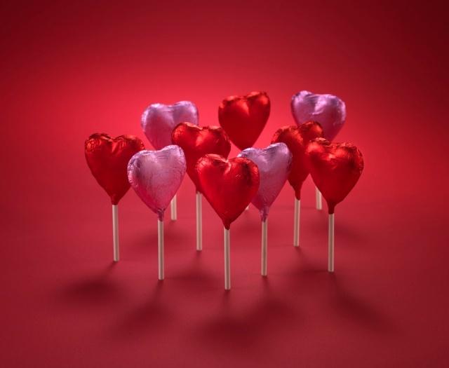 Chocolate Heart Lollipops