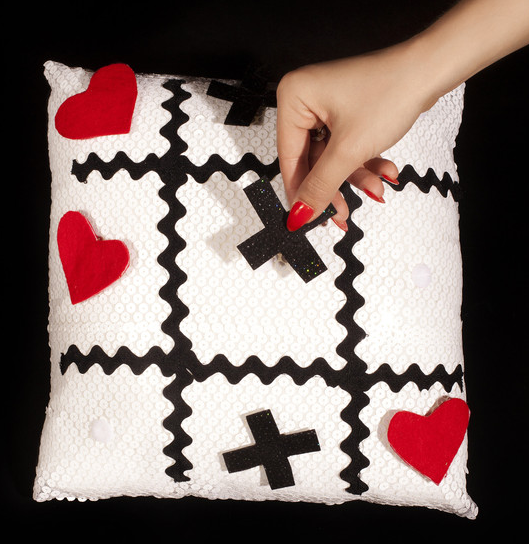 Julie Mollo Tic Tac Toe Pillow